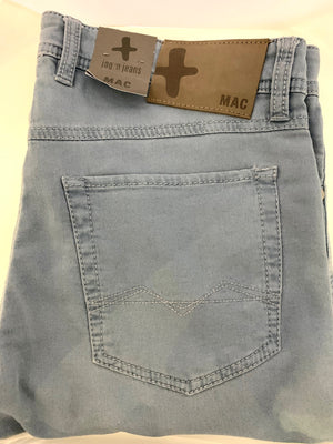 MAC JEANS  Dark Grey Cotton 5 Pocket Jeans