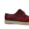 Marc Joseph Red Leather Lace Up Cap Toe Sneaker Shoes
