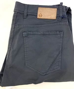 Teleria Zed Dark Grey Cotton 5 Pocket Jeans