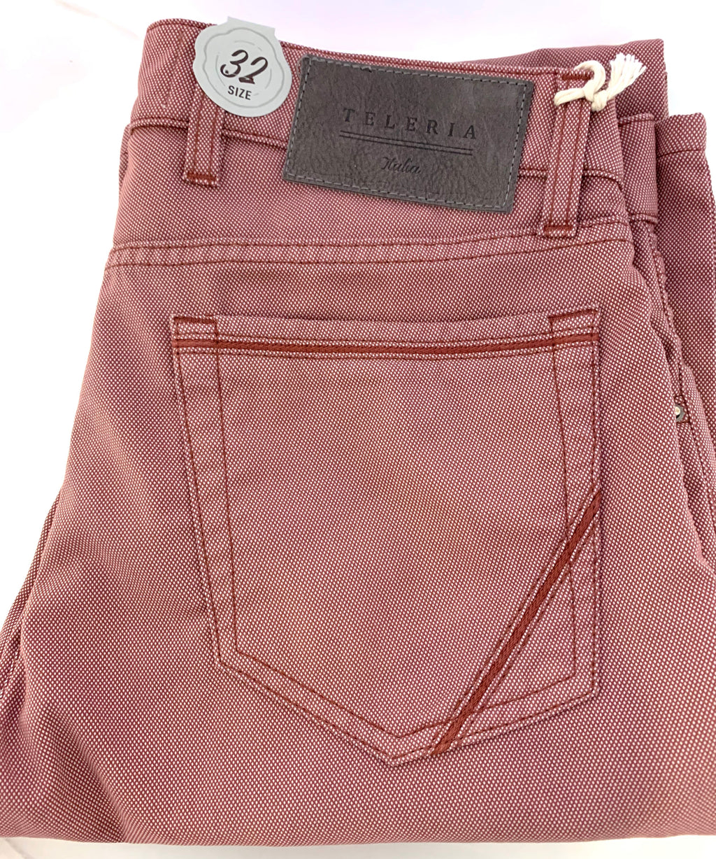 Teleria Zed Rose Pique Cotton 5 Pocket Jeans