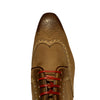 Jose Real Wingtip Sneaker Shoes in Nabuk Cuolo (Tan)