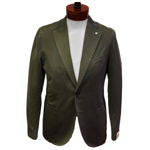 LBM Sport Jacket: Grey Slim Fit, Combed Cotton, with Unlined Body & Soft Shoulder