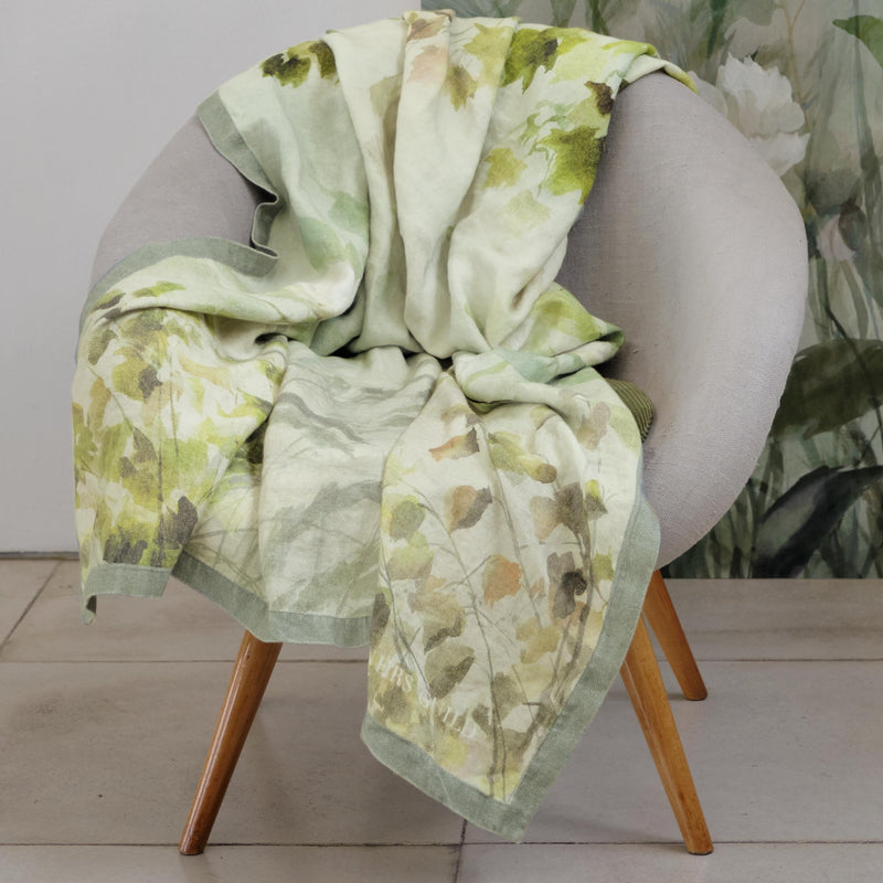 MAPLE TREE CELADON THROW