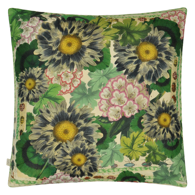 BLUE DAISIES SEPIA CUSHION