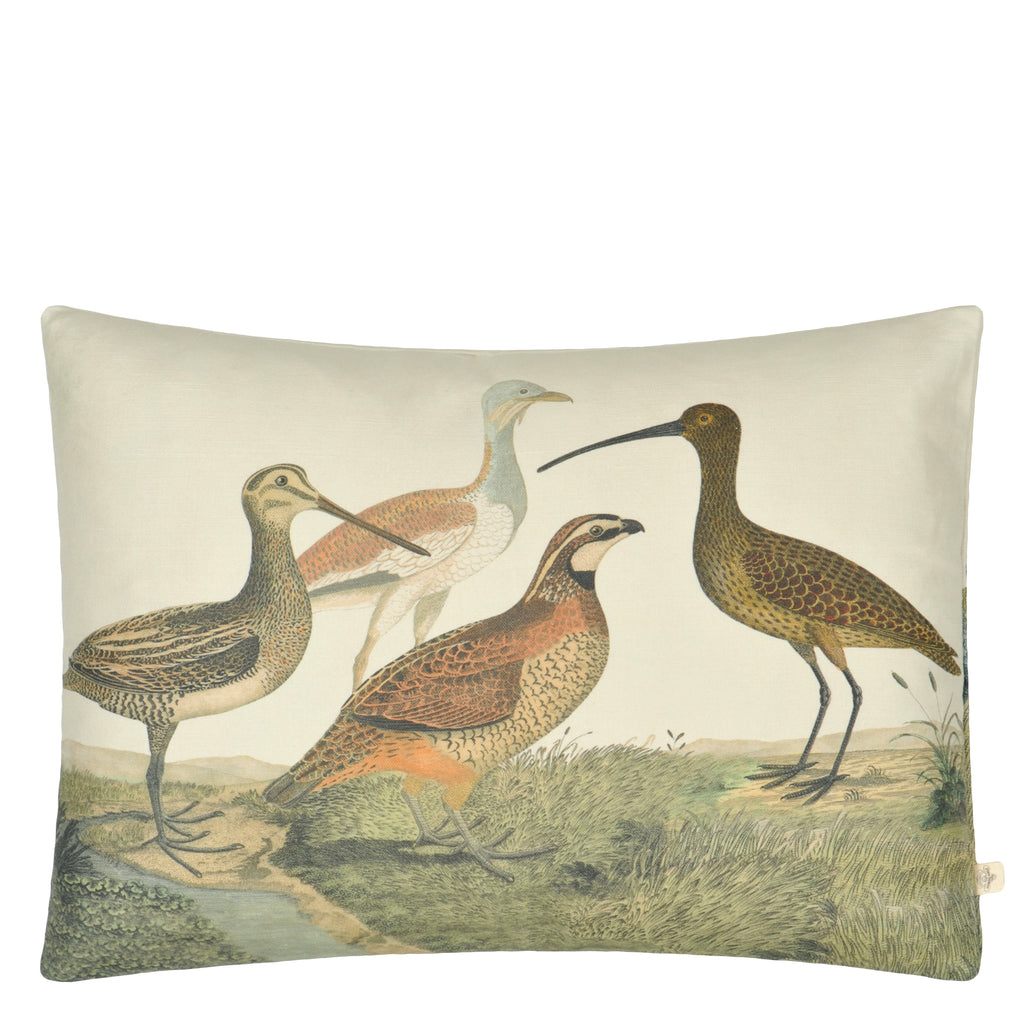BIRDS OF A FEATHER PARCHMENT CUSHION