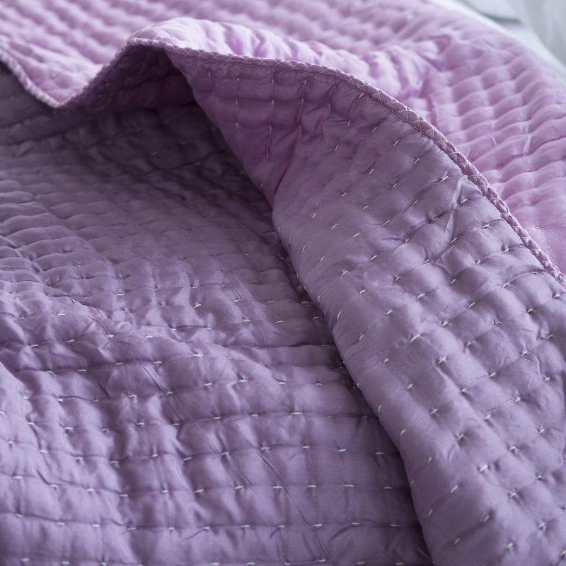CHENEVARD DAMSON & MAGENTA QUILTS & PILLOWCASES