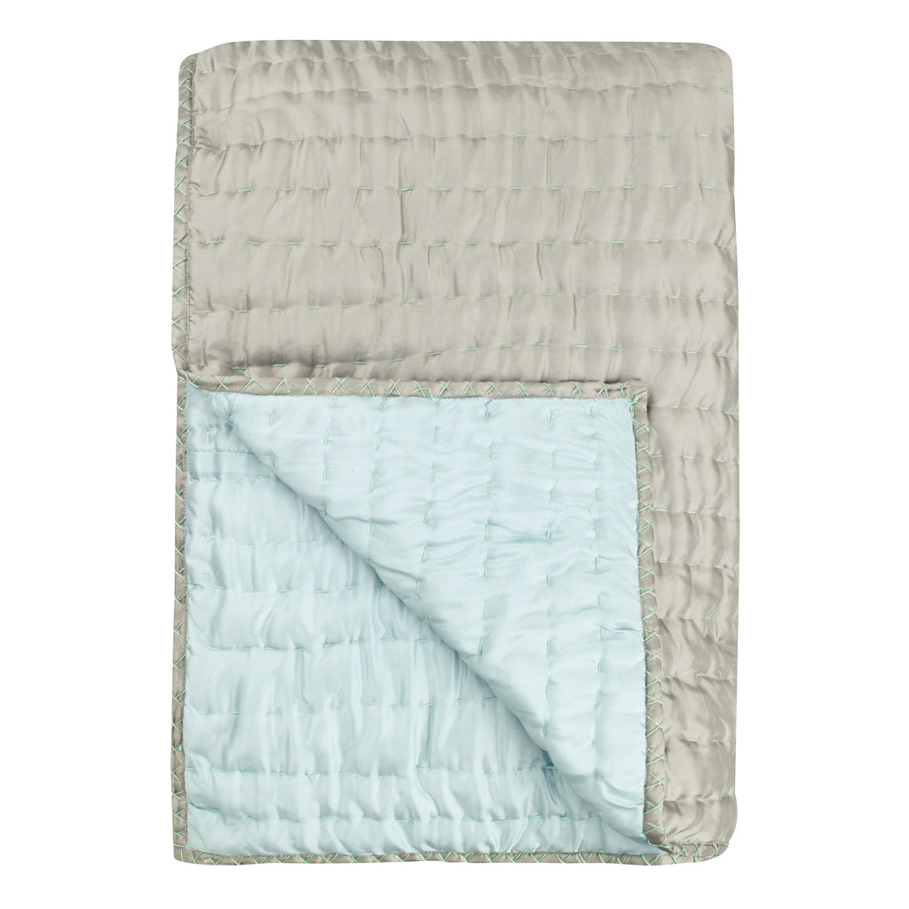 CHENEVARD PEBBLE & DUCK EGG QUILTS & PILLOWCASES