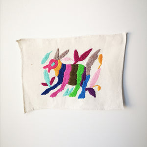 Otomi handmade embroidered canvas