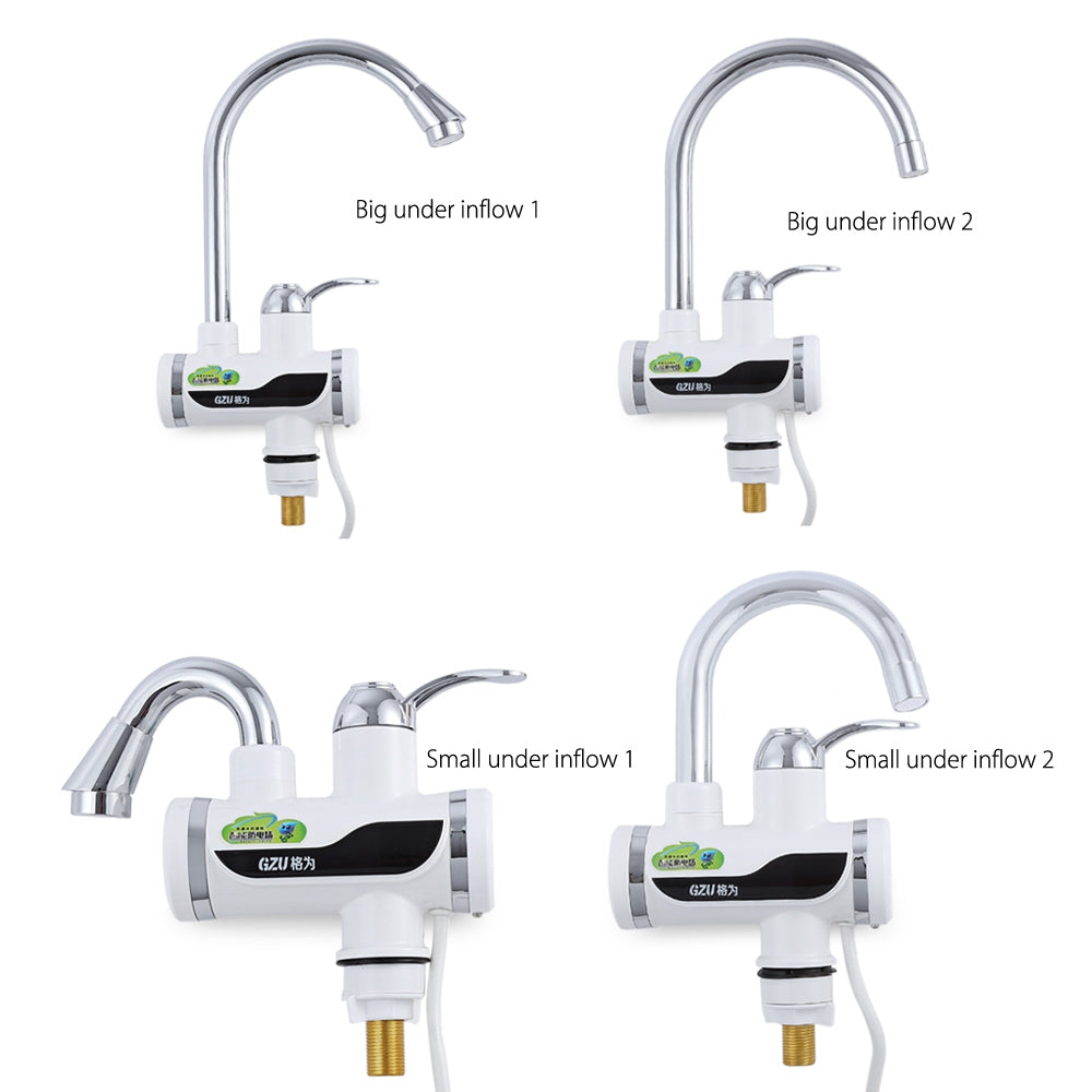 GZU ZM - D4 Tankless Electric Hot Water Heater Faucet Kitchen Kit with LED Digital Display