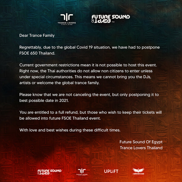 FSOE 650 - Thailand Postponement