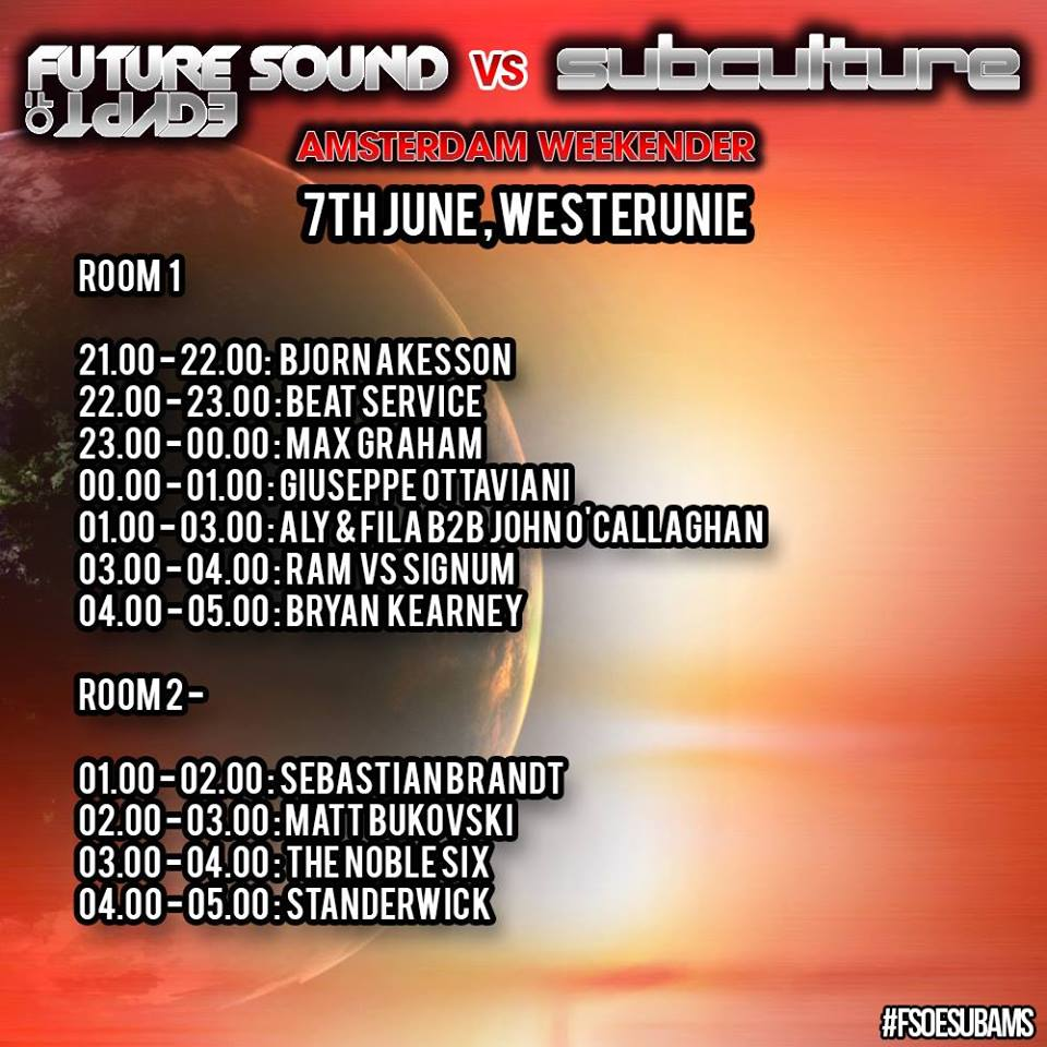Set times for FSOE vs Subculture at Westerunie