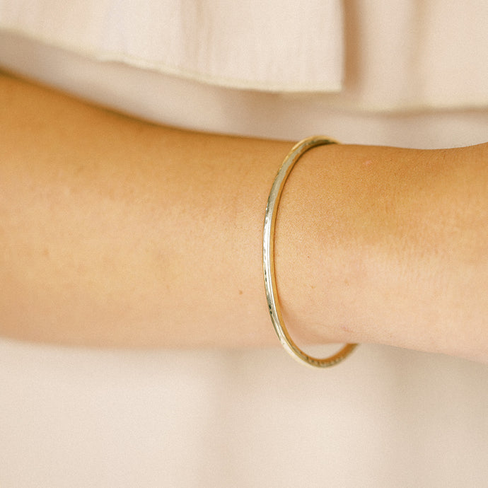 Golden Orbit Cuff Bracelet