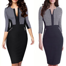 Load image into Gallery viewer, Plus Size Business Front Zipper Dress