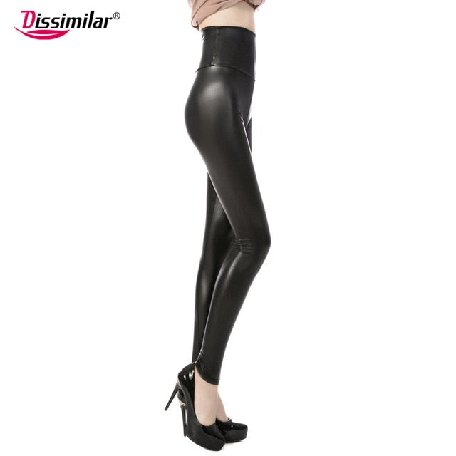Skinny Faux Leather High Waist Leggings