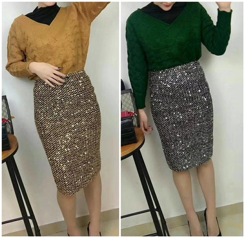 Shiny Pencil Mini Skirts