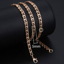 Load image into Gallery viewer, Copper Rose Gold FilledChains Necklace