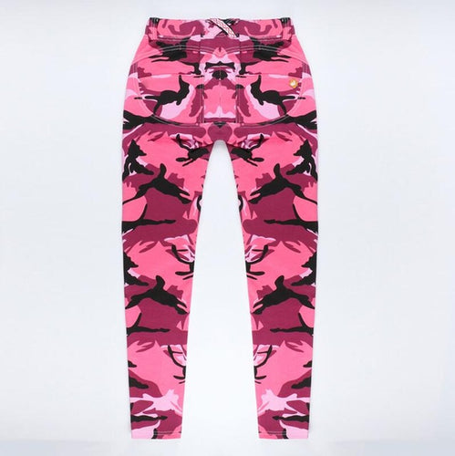 Pink Camouflage Pencil Jean