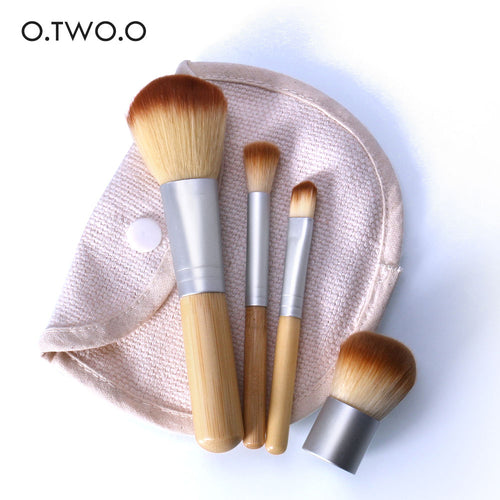 4PCS/LOT Bamboo Brush Foundation Set