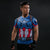 Superhero Compression Shirt Black Panther Captain America Iron man Fit Gym