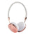 LIBOER HEADBAND WIRED ROSE GOLD HEADPHONES FOR GIRLS