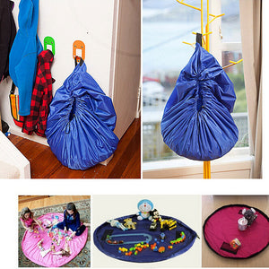 PORTABLE KIDS TOY STORAGE BAG AND PLAYING MAT