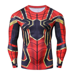 Spider man 2018 Avengers 3 Infinity War Gym 3d Long T-shirt and Pants