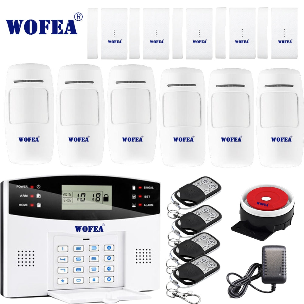 WIRELESS HOME SECURITY WITH GSM ALARM