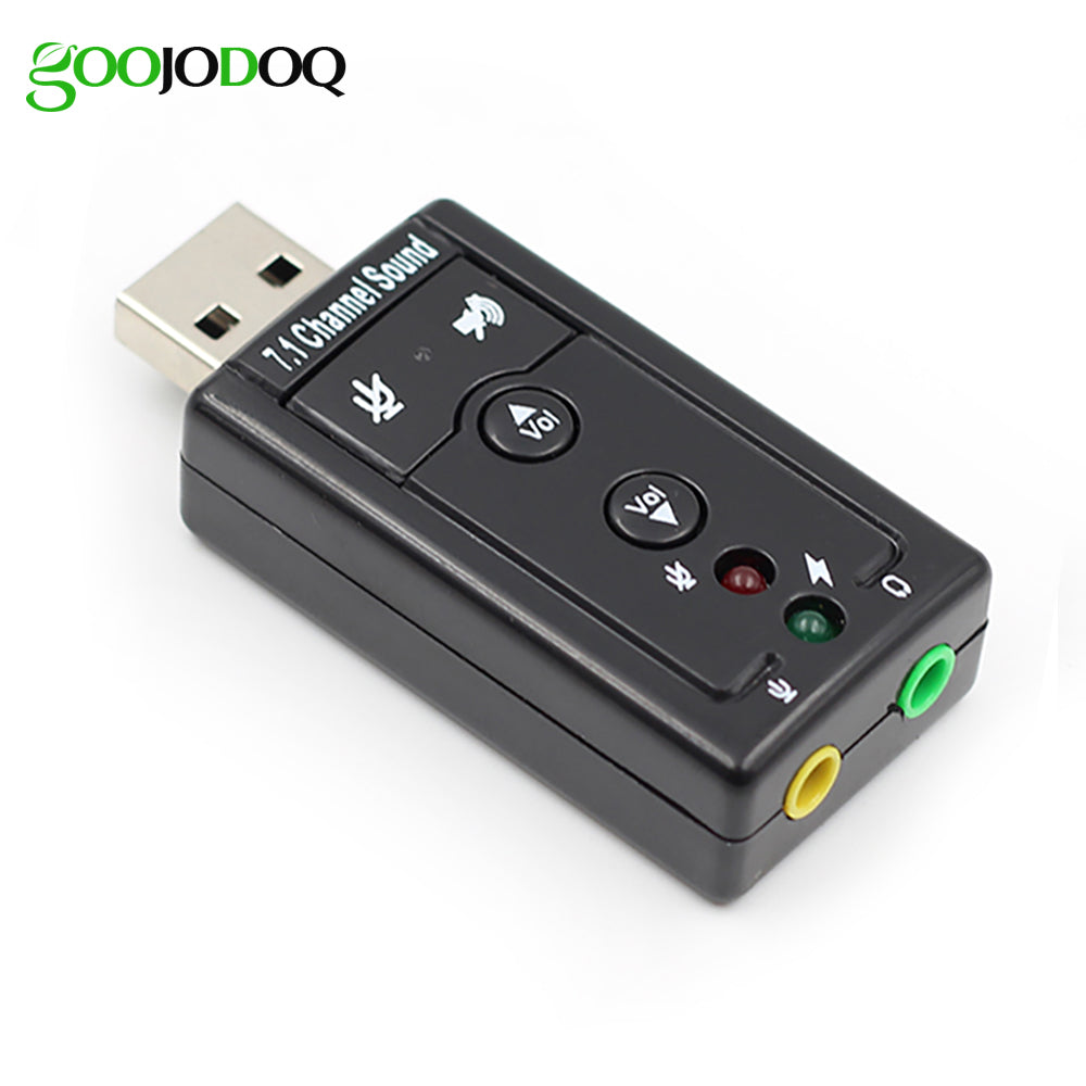 7.1 EXT USB SOUND CARD TO JACK 3.5MM