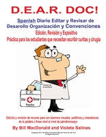 DEAR DOC Spanish Daily Editing And Revising of Development Organization & Conventions Binder