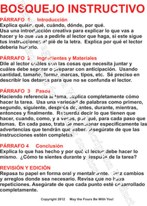 Bosquejo Instructivo Spanish Writing Poster