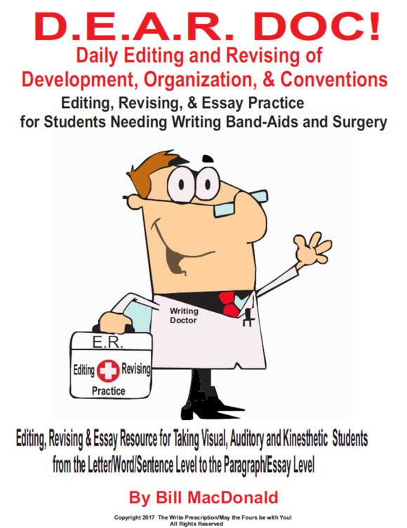 2020-2021 VERSION DEAR DOC ELAR/Writing Binder: DIGITAL COPY JULY SPECIAL ON WEBSITE ONLY:  $10!!!!