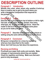 Description Outline English Writing Poster