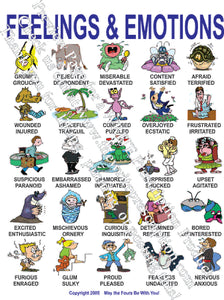 Feelings and Emotions English Poster