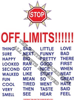 Off Limits Vocabulary Poster