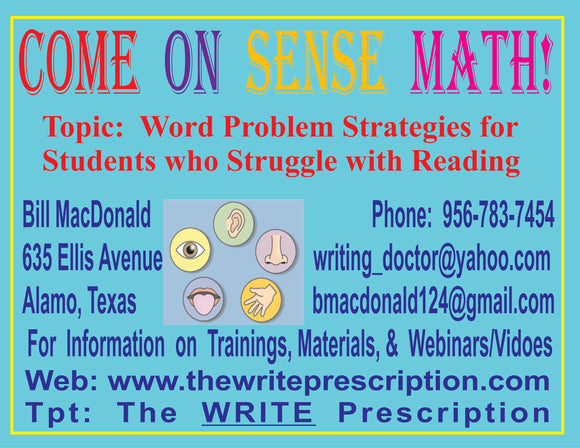 Word Problem Strategies for Students who Struggle with Reading