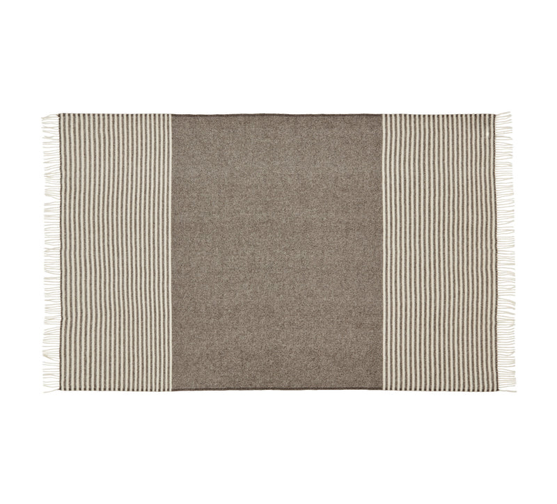 Silkeborg Uldspinderi ApS Bogø 85x130 cm Throw 0107 Earth Brown
