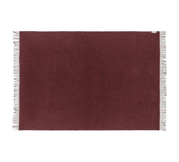 Silkeborg Uldspinderi ApS Cusco 130x200 cm Throw Old Bordeaux 0640