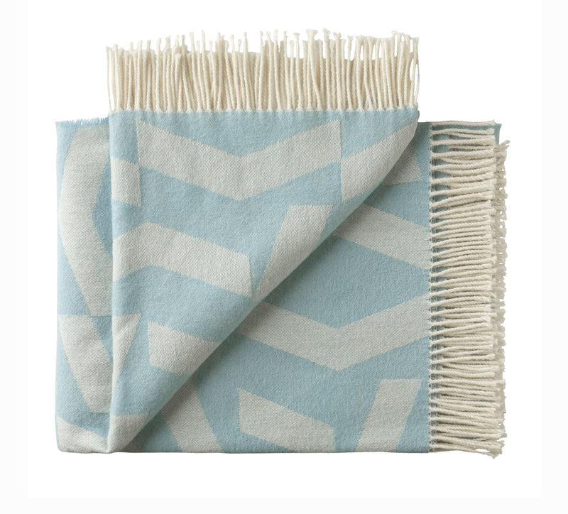 Silkeborg Uldspinderi ApS Dashes Throw 130x190 cm Throw 7306 White Blue