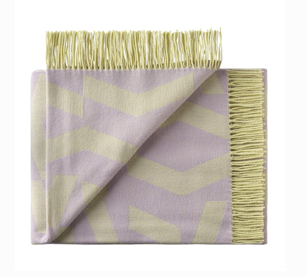 Silkeborg Uldspinderi ApS Dashes Throw 130x190 cm Throw 8712 Lilac Yellow