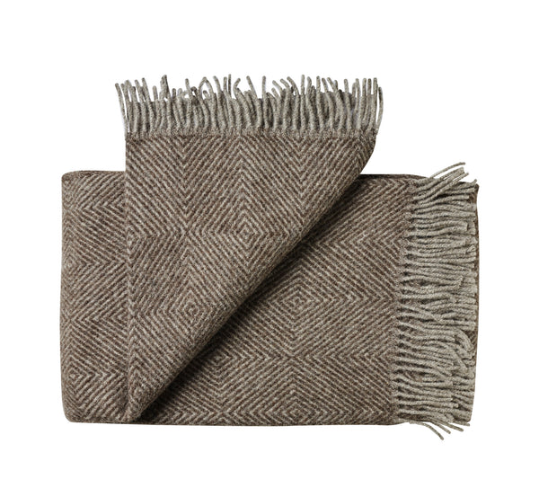 Silkeborg Uldspinderi ApS Fanø Throw 140x240 cm Throw 0108 Ash Brown