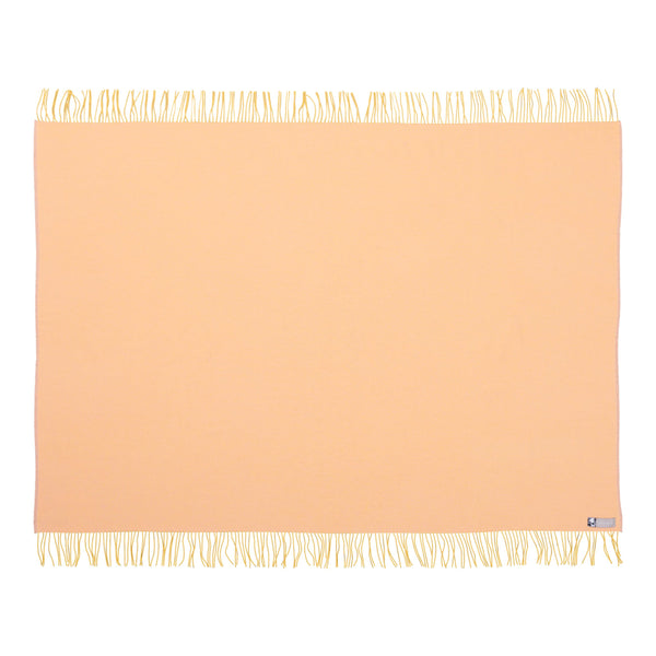 Silkeborg Uldspinderi ApS Franja Throw 170x140 cm Throw 1231 - Butter Peach