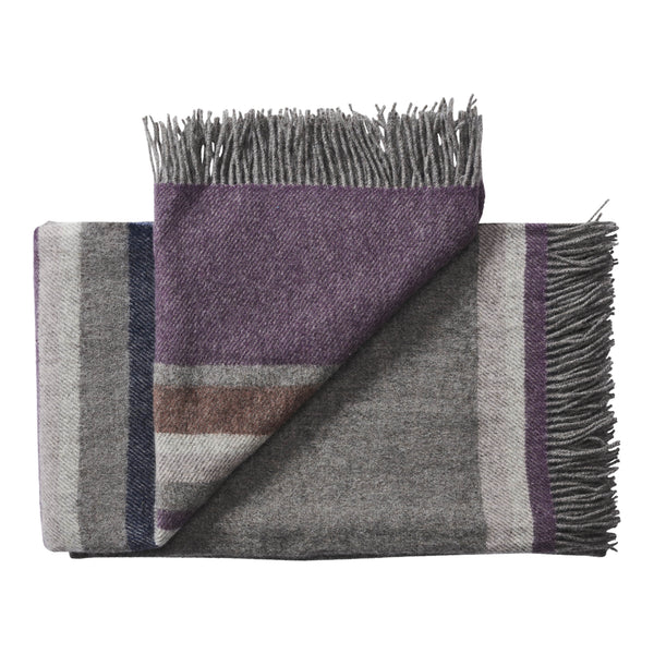 Silkeborg Uldspinderi ApS Lyø Throw 140x240 cm Throw 0837 Grey Heather