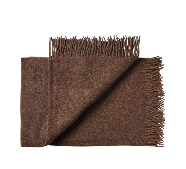 Silkeborg Uldspinderi ApS Oxford Throw 140x240 cm Throw 0410 Dark Brown