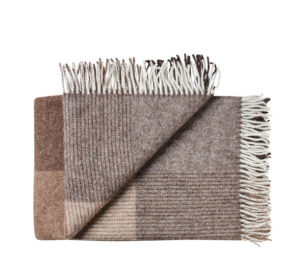 Silkeborg Uldspinderi ApS Oxford Throw 140x240 cm Throw 5104 Shades Brown