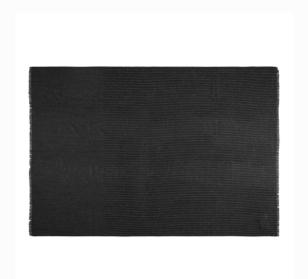 Silkeborg Uldspinderi ApS Pine 130x200 cm Throw Black and White 6600