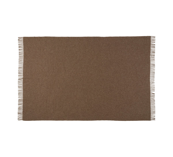 Silkeborg Uldspinderi ApS Samsø Throw 140x240 cm Throw 0120 Gotland Brown