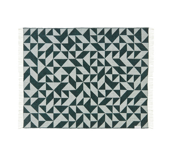 Silkeborg Uldspinderi ApS Twist a Twill Throw 130x190 cm Throw 1166 Dark Green