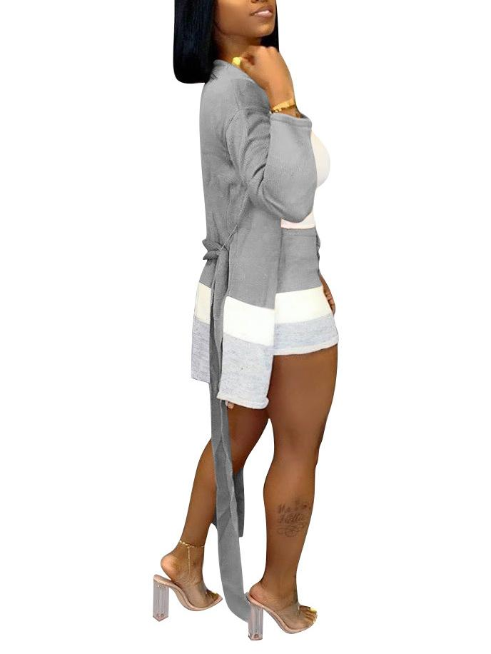 Women's 2 Piece Outfits Sets Cardigan Cover-Up + Shorts