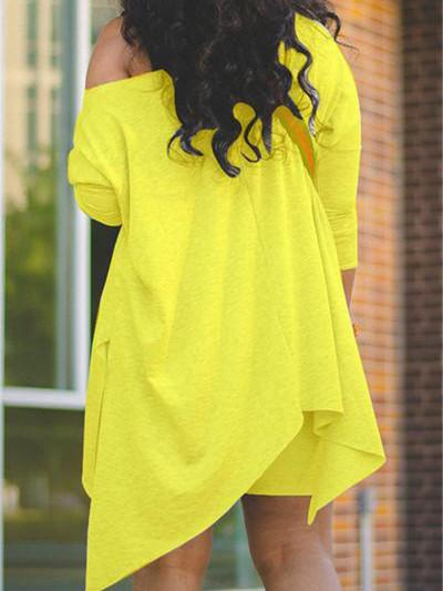 Women 3/4 Sleeve Scoop Neck Top With Shorts Sets