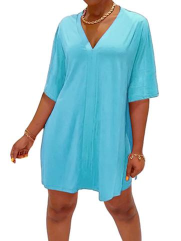 Women Puff Sleeve V-neck Top with Shorts Sets